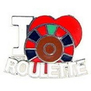 "Eagle Emblems PIN-GAME, ROULETTE, I HEART  (1"")"