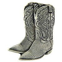 "Eagle Emblems PIN-COWBOY, BOOTS, PWT  (1"")"
