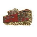 "Eagle Emblems PIN-RR, N&W CABOOSE  (1"")"