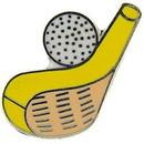 """Eagle Emblems PIN-GOLF, CLUB &BALL (1"""")"""