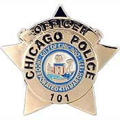 "Eagle Emblems PIN-POL, BDG, IL, CHICAGO PATROL MAN (1"")"