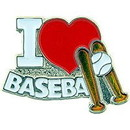 "Eagle Emblems PIN-BASE, I HEART (1"")"