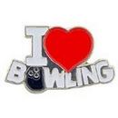 "Eagle Emblems PIN-BOWL, I LOVE (1"")"