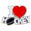 "Eagle Emblems PIN-NHL, I LOVE (1"")"