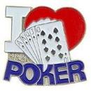 "Eagle Emblems PIN-GAME, CARD, I LOVE POKR (1"")"