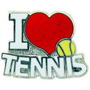 "Eagle Emblems PIN-TENNIS, I LOVE (1"")"