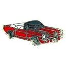 Eagle Emblems P05973 Pin-Car, Mustang, '65, Conv Red (1
