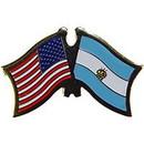 "Eagle Emblems PIN-USA/ARGENTINA (CROSS FLAGS) (1"")"