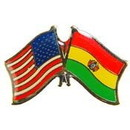 "Eagle Emblems PIN-USA/BOLIVIA (CROSS FLAGS) (1"")"