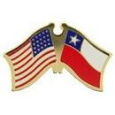 "Eagle Emblems PIN-USA/CHILE (CROSS FLAGS) (1"")"