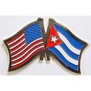 "Eagle Emblems PIN-USA/CUBA (CROSS FLAGS) (1"")"