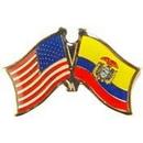 "Eagle Emblems PIN-USA/ECUADOR (CROSS FLAGS) (1"")"