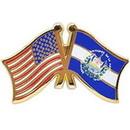 """Eagle Emblems PIN-USA/EL SALVADOR (CROSS FLAGS) (1"""")"""