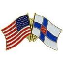 "Eagle Emblems PIN-USA/FINLAND (CROSS FLAGS) (1"")"