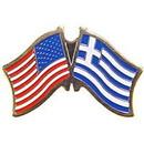 "Eagle Emblems PIN-USA/GREECE (CROSS FLAGS) (1"")"