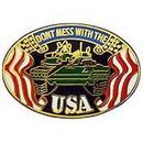 """Eagle Emblems PIN-ARMY, DON'T MESS W/USA (1"""")"""