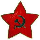 "Eagle Emblems PIN-RUSSIA, STAR W/LOGO (1"")"
