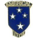 "Eagle Emblems PIN-ARMY, 023RD INF.DIV.AM (W/TAB) (1"")"