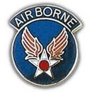 "Eagle Emblems PIN-USAF, ARMY/AIRCORP AAF (W/TAB) (1"")"