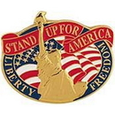 Eagle Emblems P15660 Pin-Usa, Statue Of Liberty Stand Up For America (1