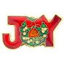 """Eagle Emblems PIN-HOL, XMAS, JOY W/WREATH  (1"""")"""