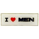 "Eagle Emblems PIN-FUN, I HEART MEN  (1"")"