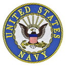 "Eagle Emblems PATCH-USN LOGO  (3"")"