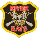 "Eagle Emblems PATCH-VIETNAM, RIVER RATS  (3"")"