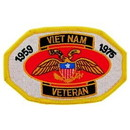 "Eagle Emblems PATCH-VIETNAM, VET, 1959-75  (3"")"