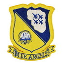 "Eagle Emblems PATCH-USN, BLUE ANGELS  (3"")"
