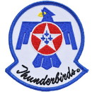 "Eagle Emblems PATCH-USAF, THUNDERBIRDS  (3"")"