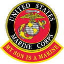 "Eagle Emblems PATCH-USMC LOGO, MY SON  (3"")"