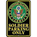 "Eagle Emblems SIGN-ARMY, PARKING ONLY (RECTANGLE/SML) (8""X12"")"