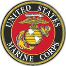 "Eagle Emblems SIGN-USMC LOGO  (ROUND) (12"")"