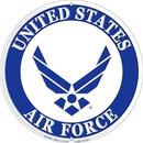 """Eagle Emblems SIGN-USAF LOGO  (ROUND) (12"""")"""