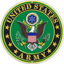 "Eagle Emblems SIGN-ARMY LOGO  (ROUND) (12"")"