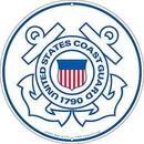 "Eagle Emblems SIGN-USCG LOGO  (ROUND) (12"")"