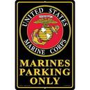 """Eagle Emblems SIGN-USMC, PARKING ONLY (RECTANGLE/LRG) (12""""X18"""")"""