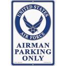"""Eagle Emblems SIGN-USAF, PARKING ONLY (RECTANGLE/LRG) (12""""X18"""")"""