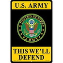 "Eagle Emblems SIGN-ARMY, PARKING ONLY (RECTANGLE/LRG) (12""X18"")"