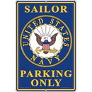 """Eagle Emblems SIGN-USN, PARKING ONLY (RECTANGLE/LRG) (12""""X18"""")"""