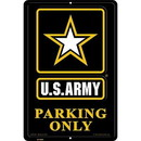 "Eagle Emblems SIGN-ARMY, PARKING ONLY, II (RECTANGLE/LRG) (12""X18"")"