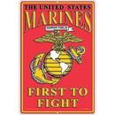 """Eagle Emblems SIGN-USMC, PARKING ONLY, II (RECTANGLE/LRG) (12""""X18"""")"""