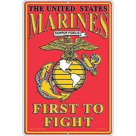 "Eagle Emblems SIGN-USMC, PARKING ONLY, II (RECTANGLE/LRG) (12""X18"")"