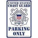 "Eagle Emblems SIGN-USCG, PARKING ONLY (RECTANGLE/LRG) (12""X18"")"