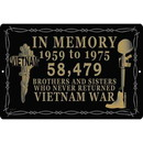 "Eagle Emblems SIGN-VIETNAM, IN MEMORY (RECTANGLE/LRG) (12""X18"")"