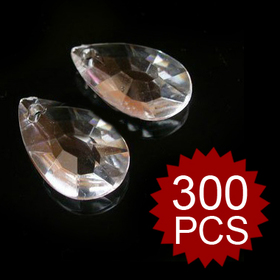 Aspire Acrylic Clear Teardrop Crystal Prisms (Wholesale Price For 300PCS)