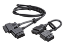 J S Products JS78757 2 Piece Angled OBDII Connect Set