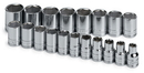 Sk Hand Tool SK1959 19 Piece 6 Point Standard Socket Set 1/2