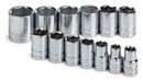 Sk Hand Tool SK4113-6 13 Piece 6 Point Standard Socket Set 1/2